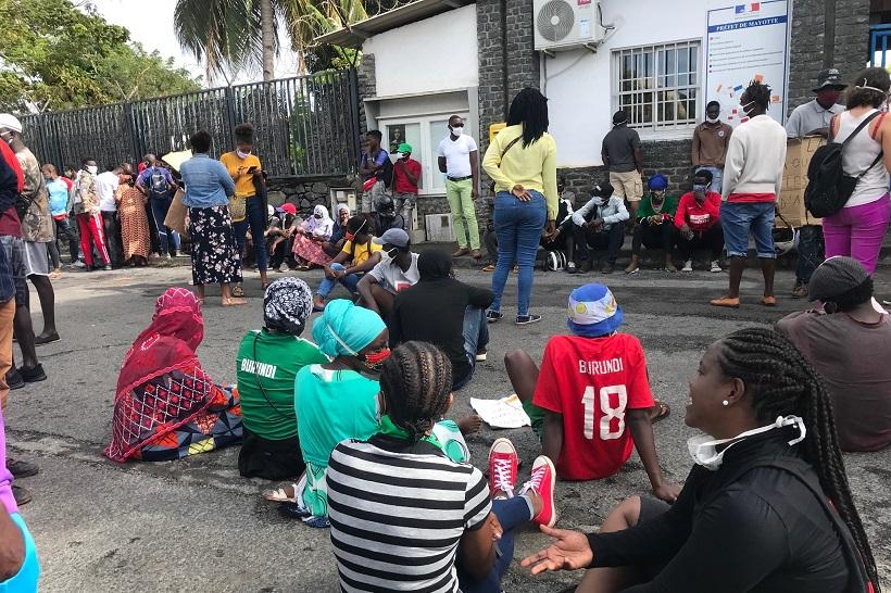 La préfecture de Mayotte reçoit les demandeurs d'asile africains