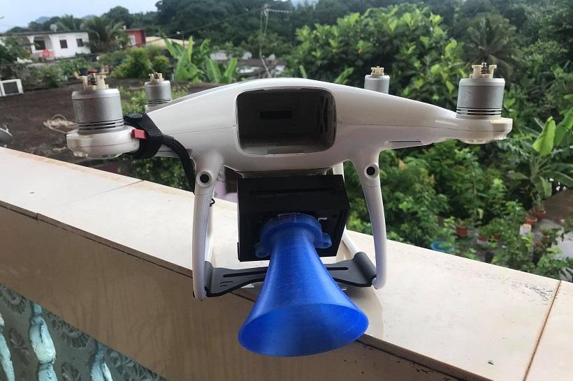 Masques en 3D et survol des quartiers inaccessibles en drone : les drôles de mission de Jérôme Mathey