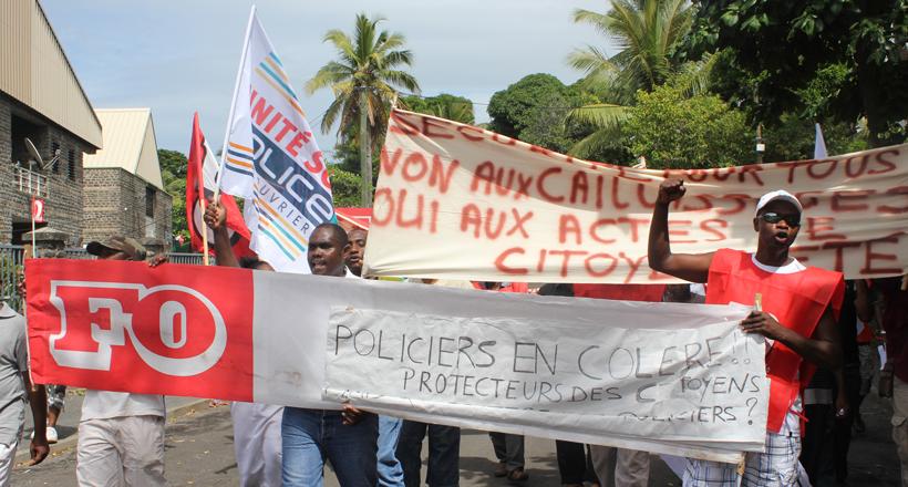 Des policiers de Mayotte manifestent aujourd'hui