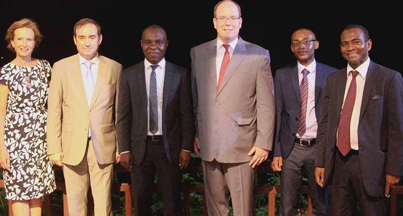 Le prince Albert II de Monaco en visite a Mayotte