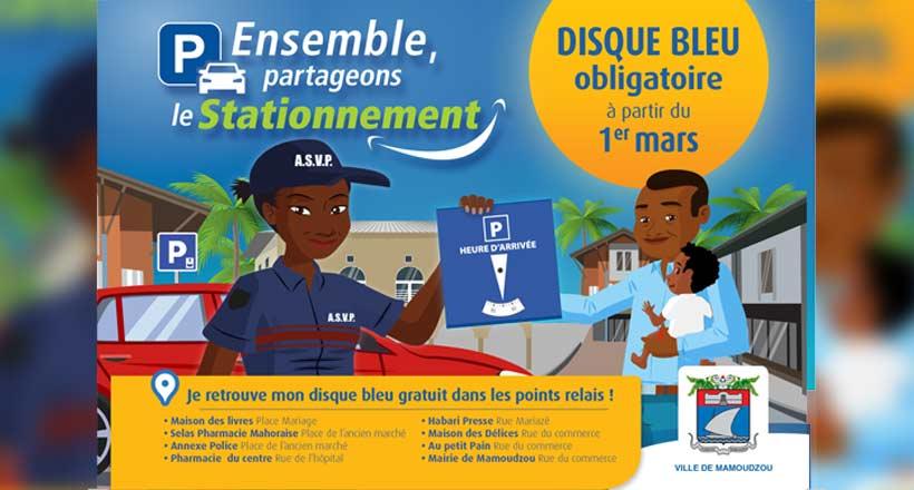 Les règles de stationnement changent au 1er mars à Mamoudzou