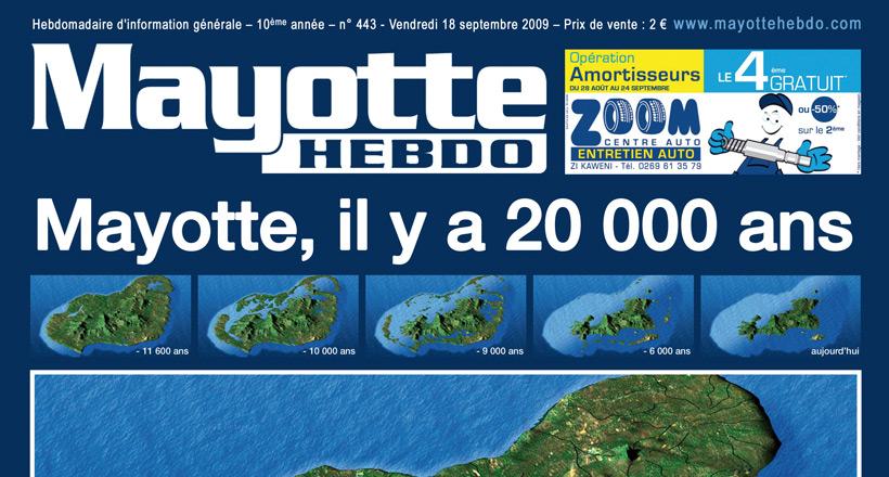 Il y a 12 000 ans, Mayotte était cinq fois plus grande