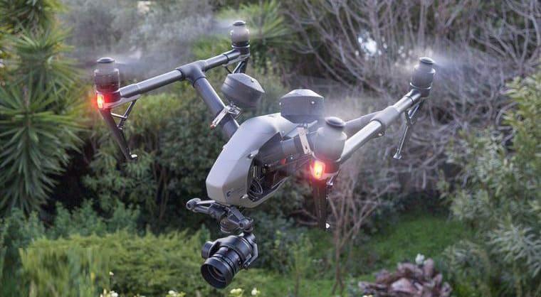 Drone DJI Inspire 2 prêt à voler