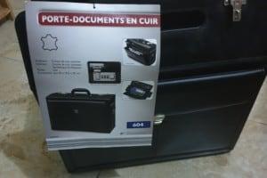 Porte documents- malette en cuir véritable neuf