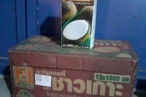 vente du lait au coco