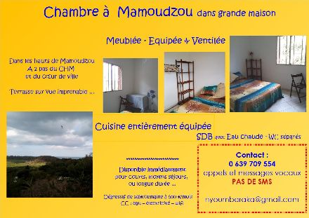 chambre dans grande maison à Mamoudzou